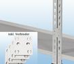 MP20G / MP23G Wandregal - inkl. 4 Verbinder