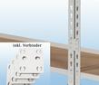 MP20M / MP23M Wandregal - inkl. 4 Verbinder