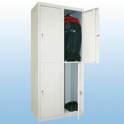 Kleiderspind 4 Türen grau