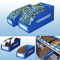 Lagersichboxen aus Karton