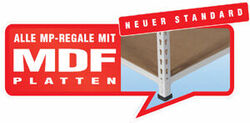 MP Fachbodenregle - inkl. 16 mm MDF-Platte