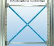 Kragarmregal doppelseitig - hohe Stabilität durch Verbindungskreuz